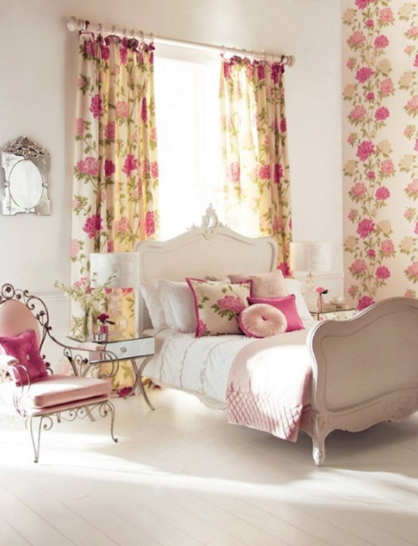 Best Pink Floral Bedroom Ideas With Pictures