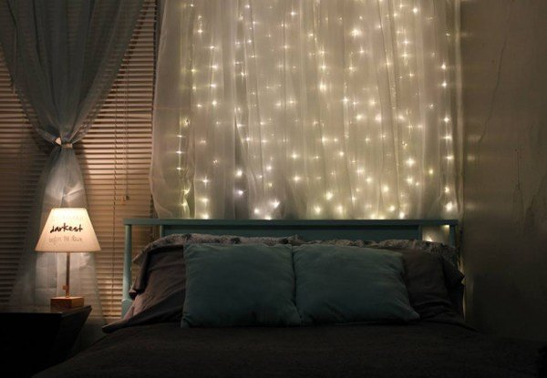 Best 15 Diy Curtain Headboard With Christmas Lights Home Design And Interior With Pictures