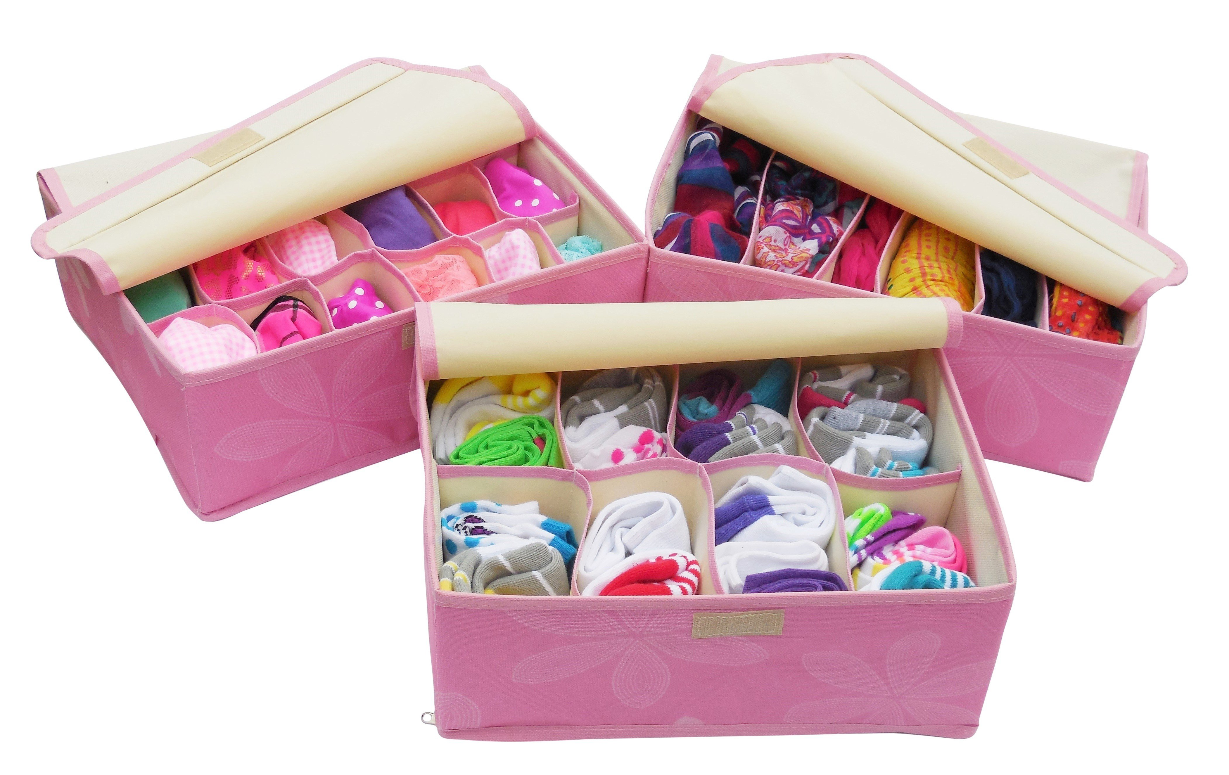 Best Bedroom Drawer Organizer Set Of 3 Storage Boxes With Pictures