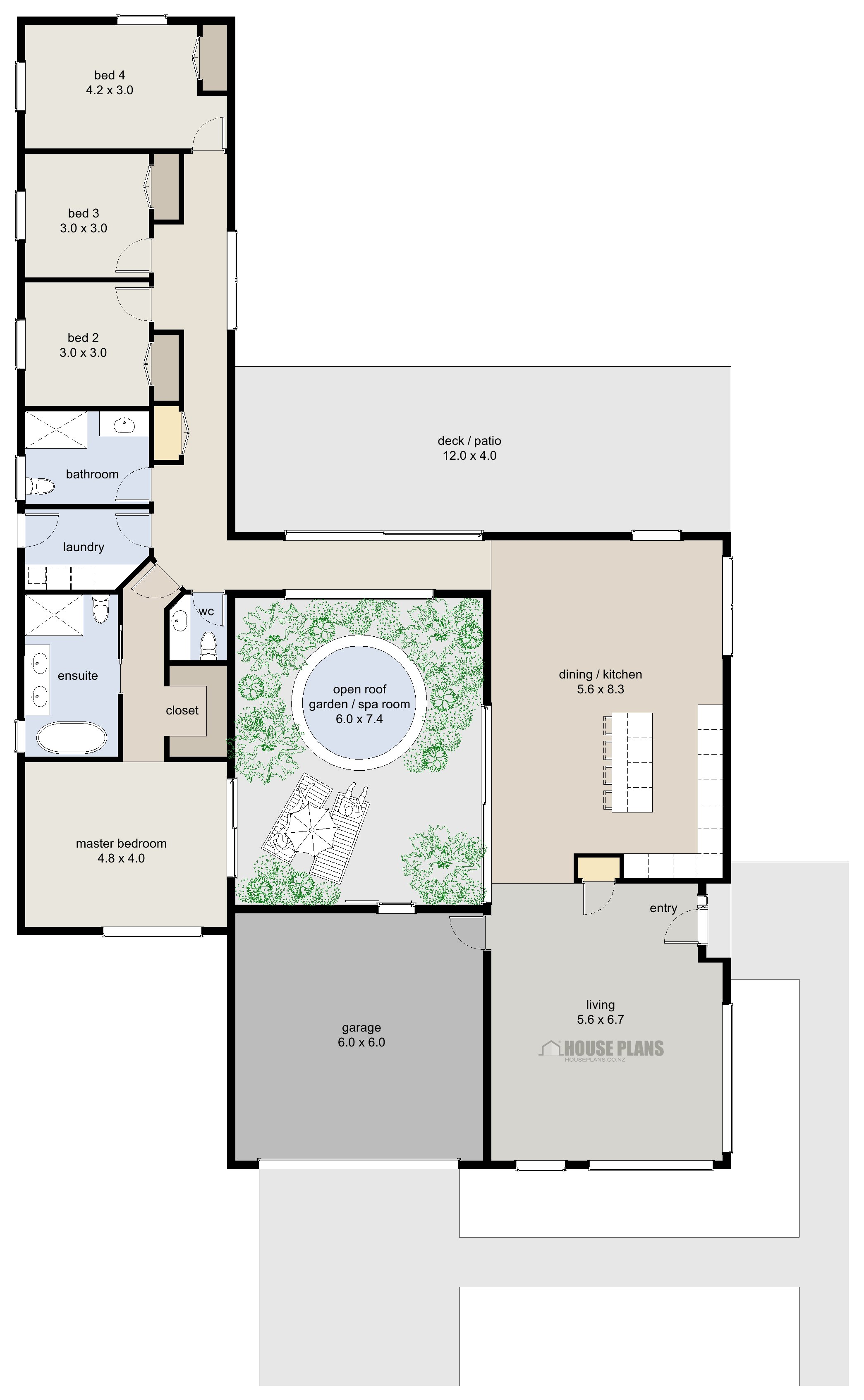 Best Zen Lifestyle 7 4 Bedroom House Plans New Zealand Ltd With Pictures