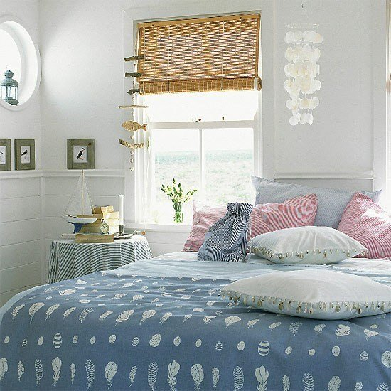 Best Bedroom With Blue Bedding And Seaside Accessories With Pictures