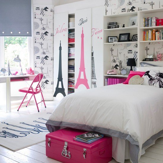 Best Paris Theme Girl S Bedroom Teenage Girls Bedroom Ideas With Pictures