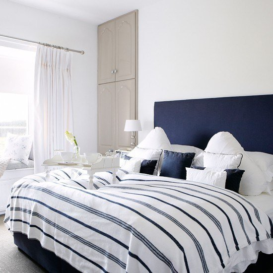 Best Navy And White Bedroom Country Decorating Ideas With Pictures
