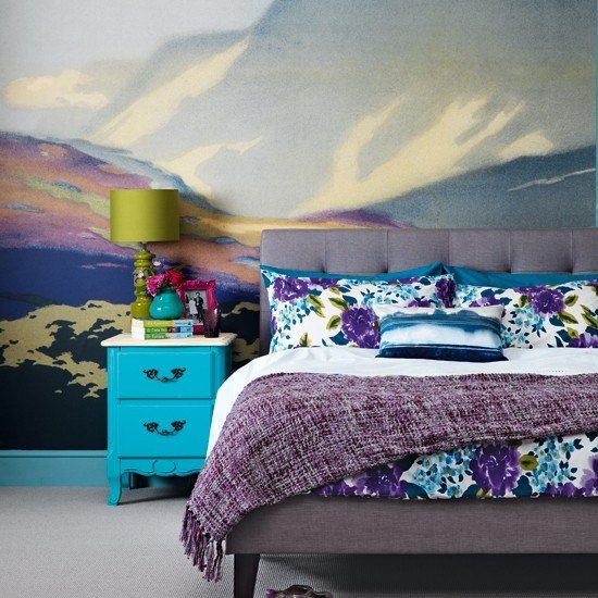 Best Bedroom With Wall Mural Housetohome Co Uk With Pictures