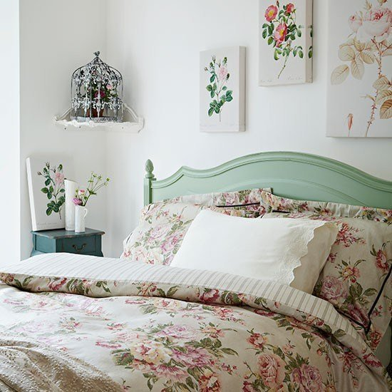 Best Rose Print Bedroom Vintage Bedroom Style Housetohome Co Uk With Pictures