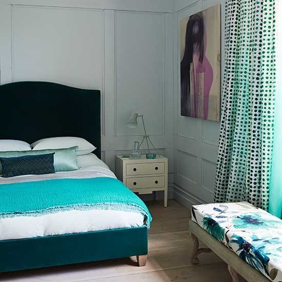 Best Textural Teal Bedroom Decorating With Teal And Green With Pictures
