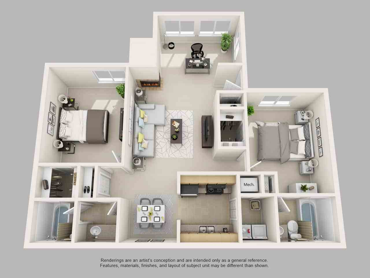 Best Park On Clairmont Apartments Floor Plans And Models With Pictures