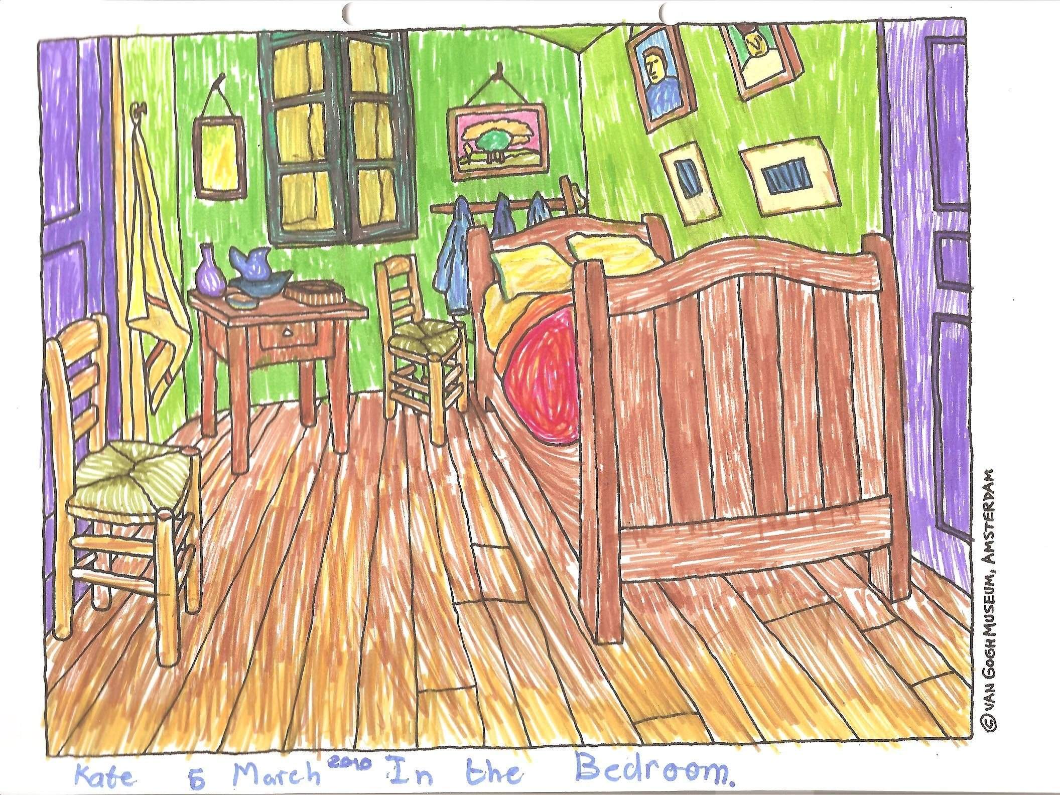 """Best Finding Perspective In Van Gogh's """"Bedroom In Auvers With Pictures"""