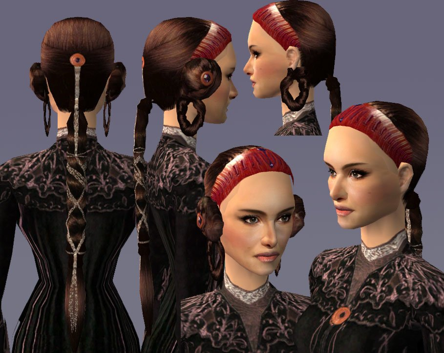 Free Mod The Sims The Revelationgown Hairstyle For Padme Wallpaper