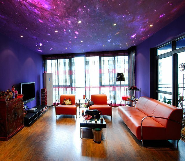 Best Fancy Galaxy Wallpaper On Ceiling By Fototapeta4U Pl With Pictures