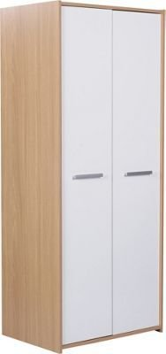 Best Buy Home New Sywell 2 Door Wardrobe Oak Effect White With Pictures