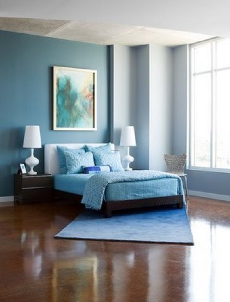 Best Modern Cute Blue And Brown Bedroom Interior Decoration Design Bookmark 12326 With Pictures