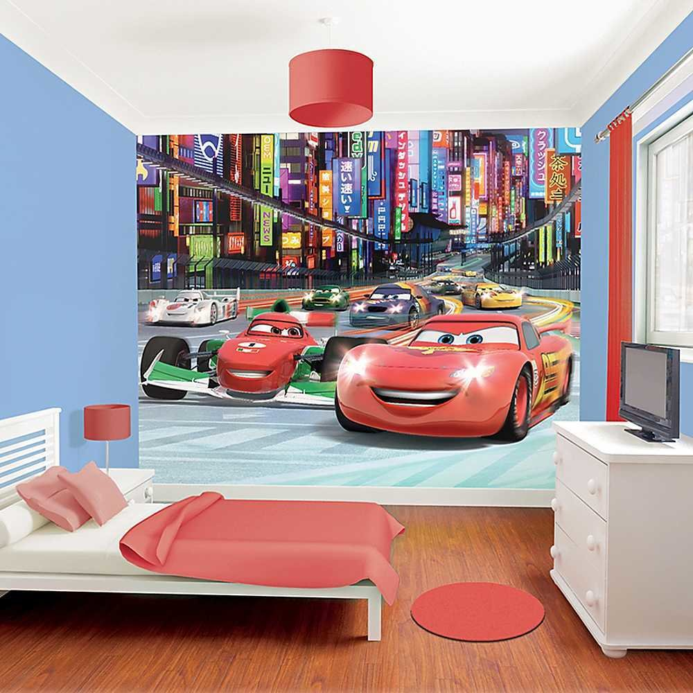Best Disney Cars Wallpaper Mural By Walltastic® Nursery With Pictures