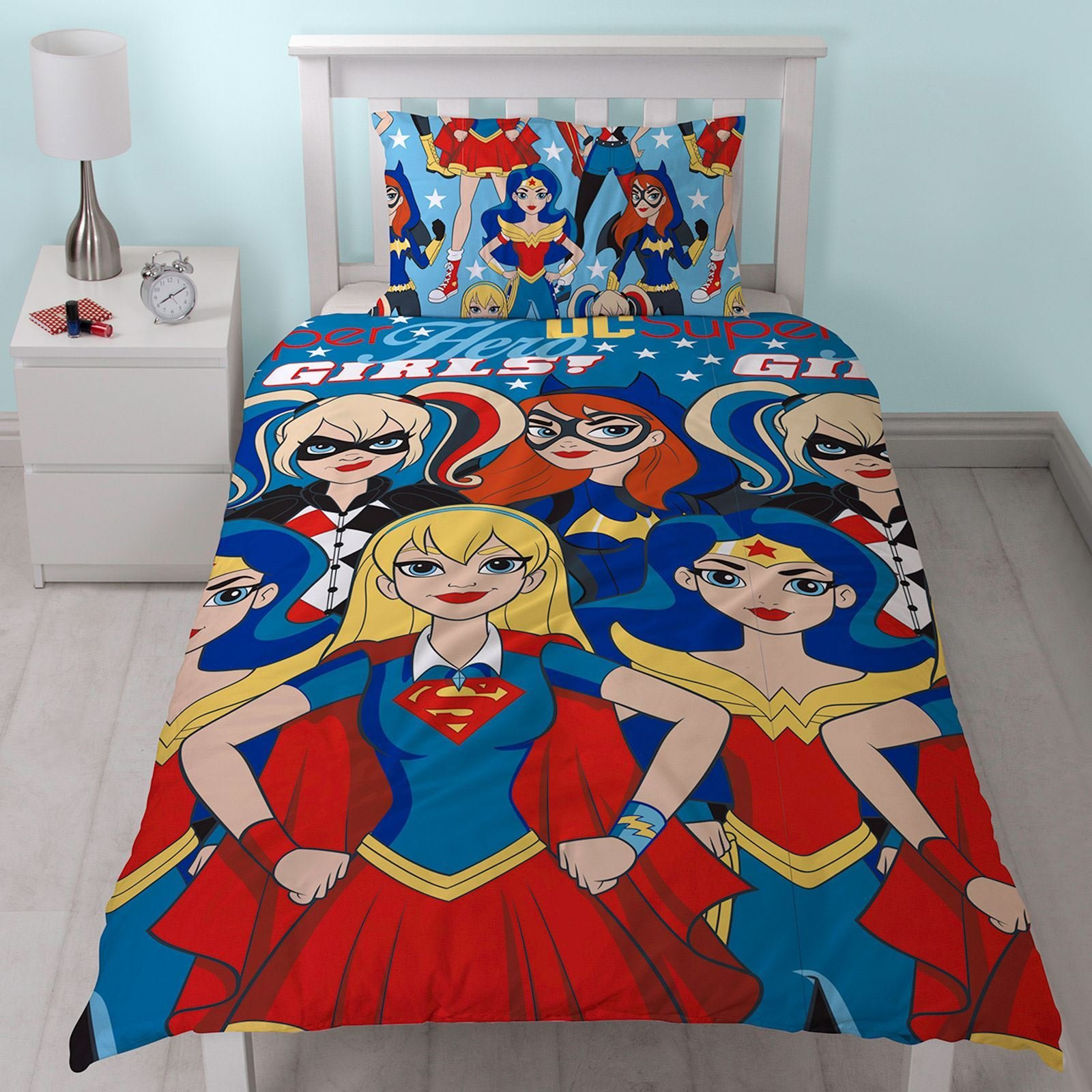 Best Dc Super Hero Girls Duvet Cover Set Wonder Woman Harley With Pictures