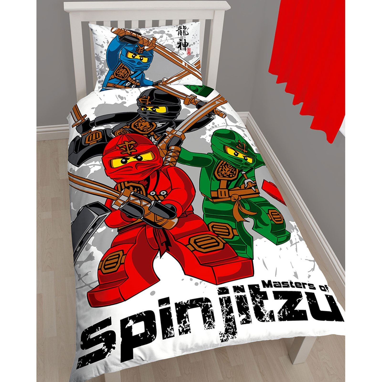 Best Lego Ninjago Warrior Single Duvet Cover Pillowcase Set With Pictures
