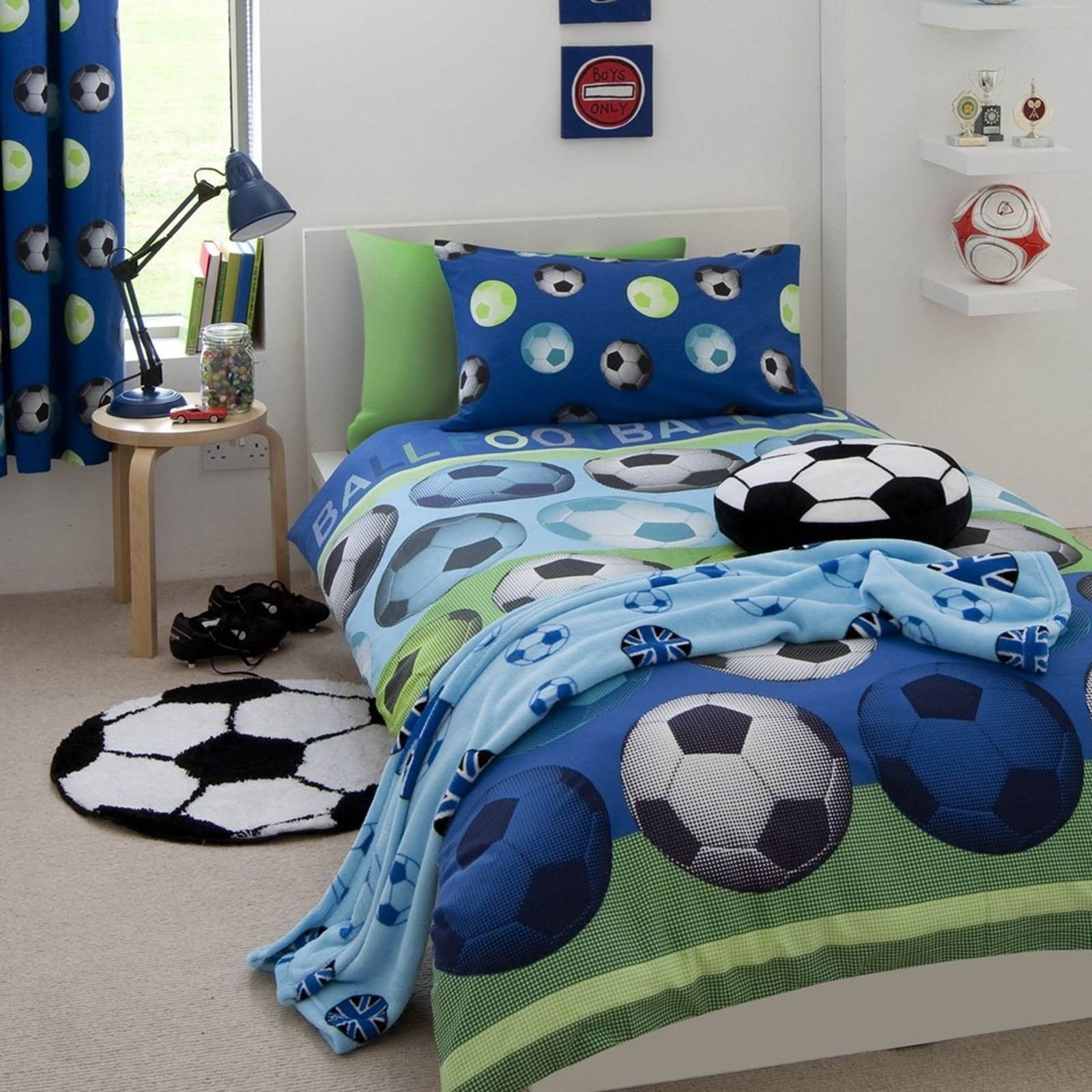 Best It S A Goal Football Rug Catherine Lansfield Kids Boys With Pictures