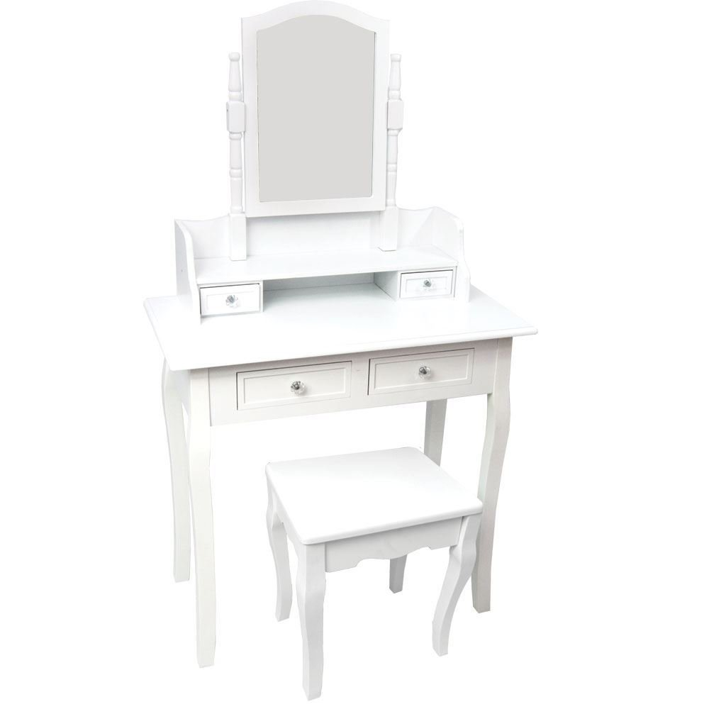 Best Nishano Dressing Table 4 Drawer With Stool White Bedroom With Pictures