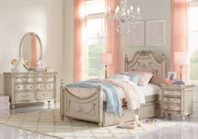Best Disney Princess Silver 5 Pc Twin Poster Bedroom Girls Bedroom Sets Colors With Pictures