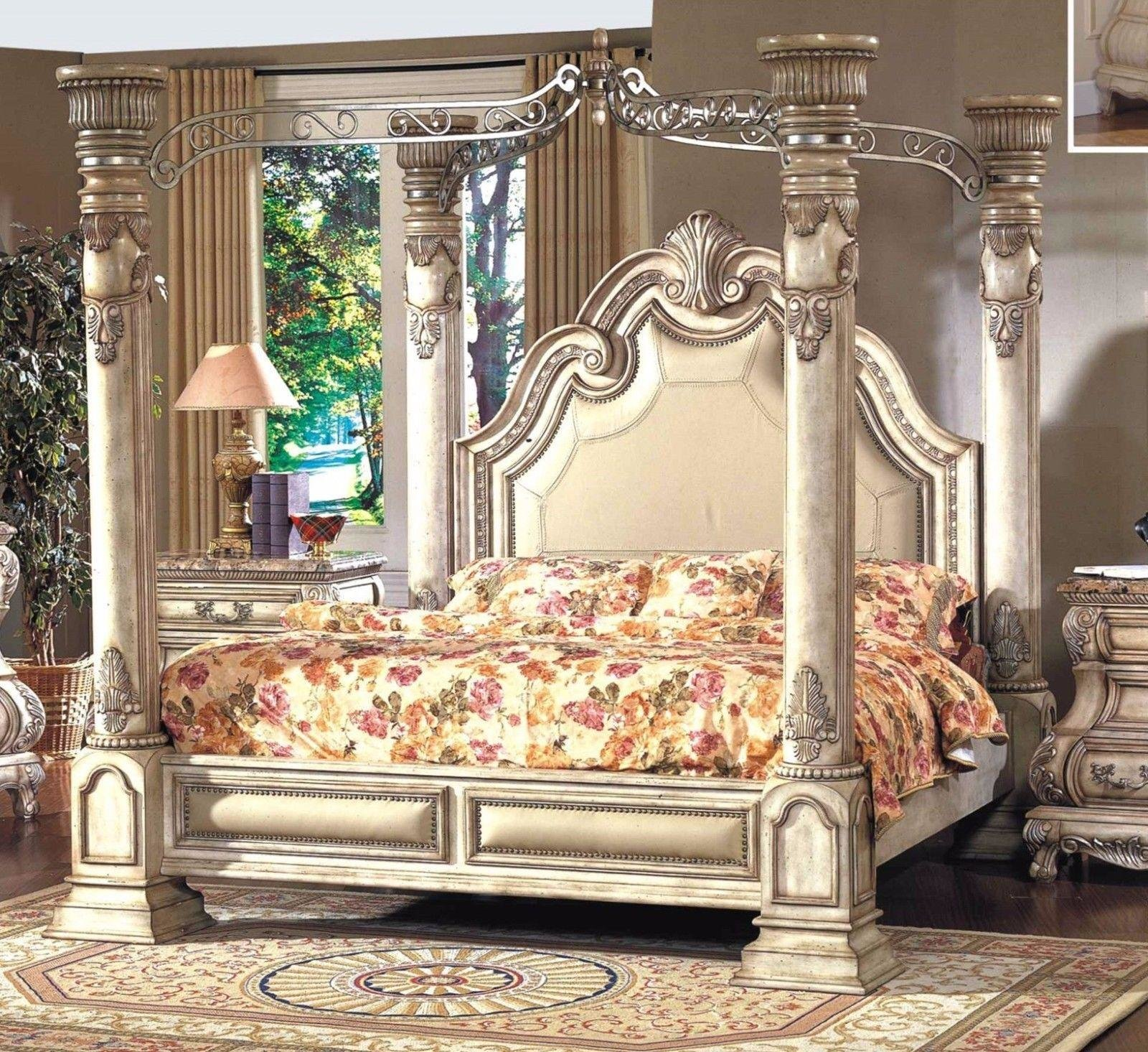 Best Mcferran B9087 Monaco Luxury White Finish Queen Size With Pictures