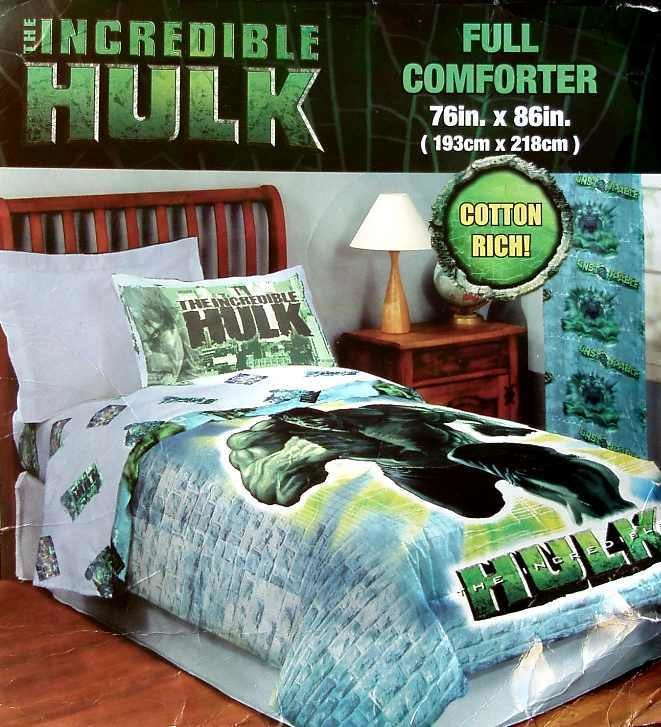 Best The Incredible Hulk Movie Full Comforter Bedding New With Pictures
