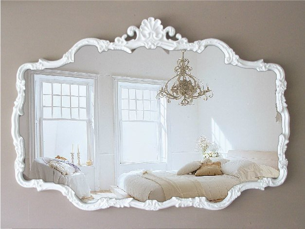 Best Vintage Cottage Chic Mirror Huge Shabby Chic By With Pictures
