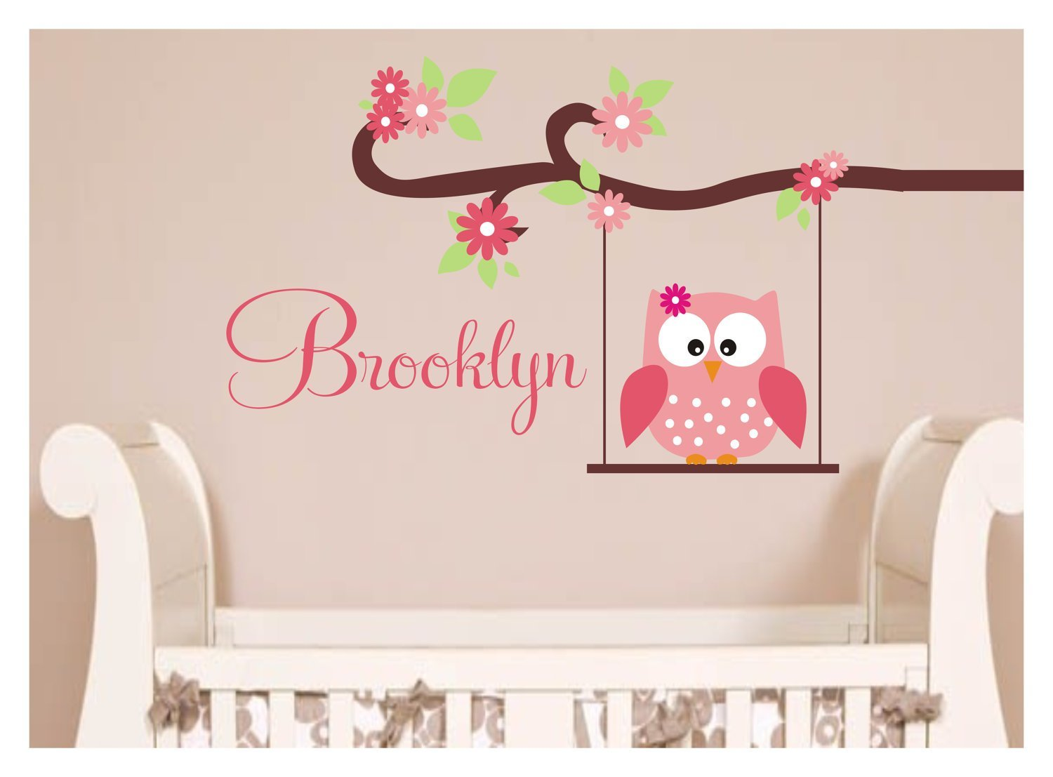 Best Owl Decal Monogram Childrens Wall Decals By Justthefrosting With Pictures