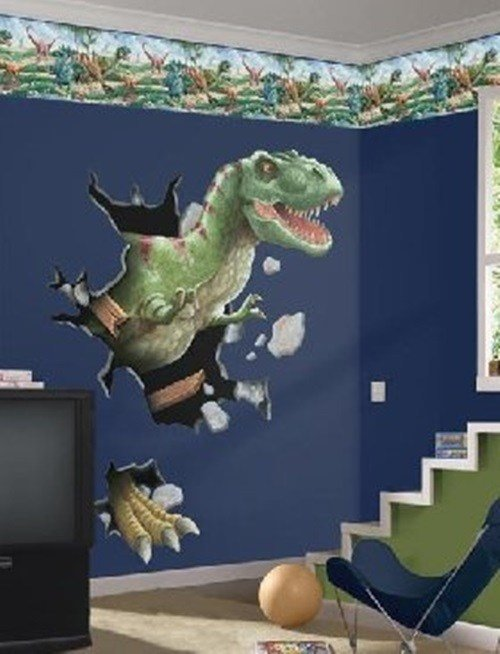 Best Dinosaurs Wall Themes For Kids Room Interior Design With Pictures