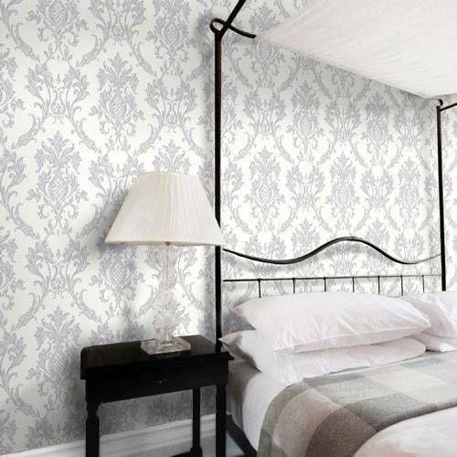 Best Damask Wallpaper Diy Materials Ebay With Pictures