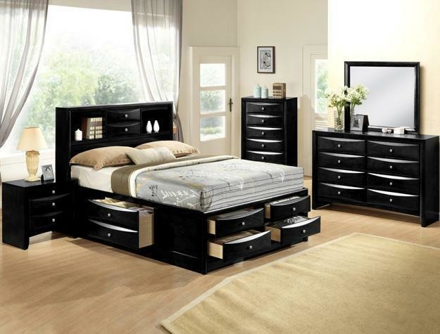 Best Kira Contemporary King Storage Bedroom Set Houston Only With Pictures