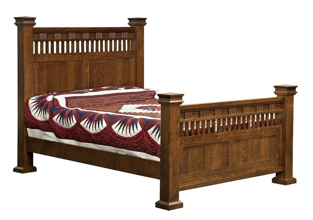 Best Amish Luxury Mission Sequoya Bed Solid Wood Bedroom With Pictures