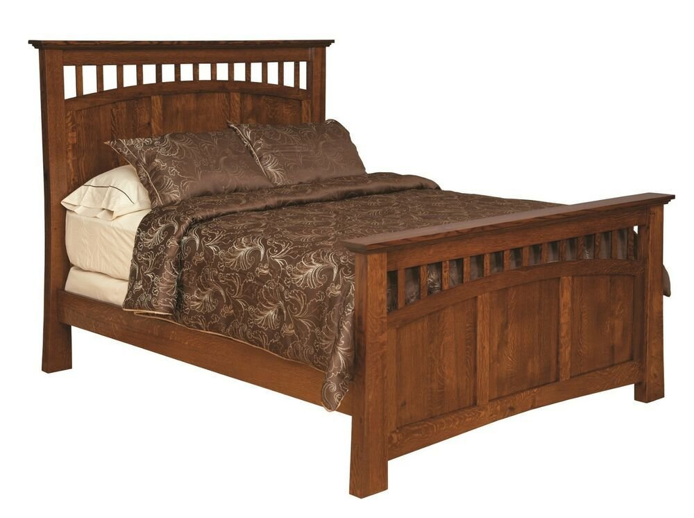 Best Amish Luxury Bridgeport Mission Bed Solid Wood Bedroom With Pictures