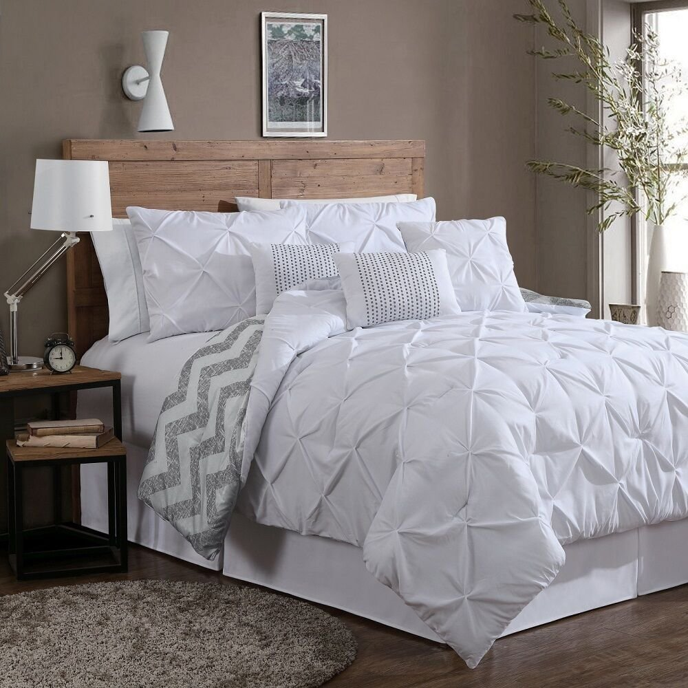 Best Reversible 7 Piece Comforter Set Queen Size Bed Bedding With Pictures