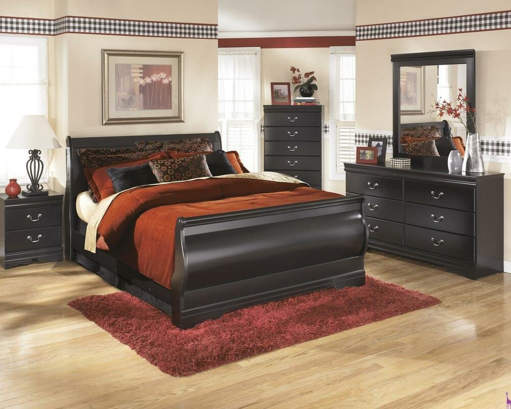 Best Ashley Huey Vineyard B128 King Size Sleigh Bedroom Set With Pictures