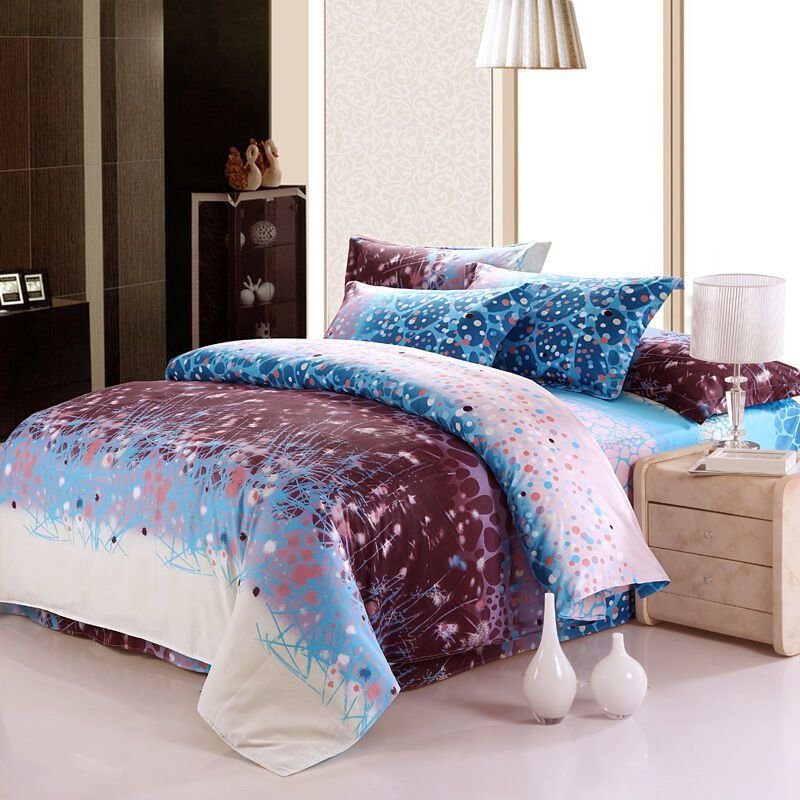 Best Fitted Bed Sheet Set California King Queen Ebay With Pictures