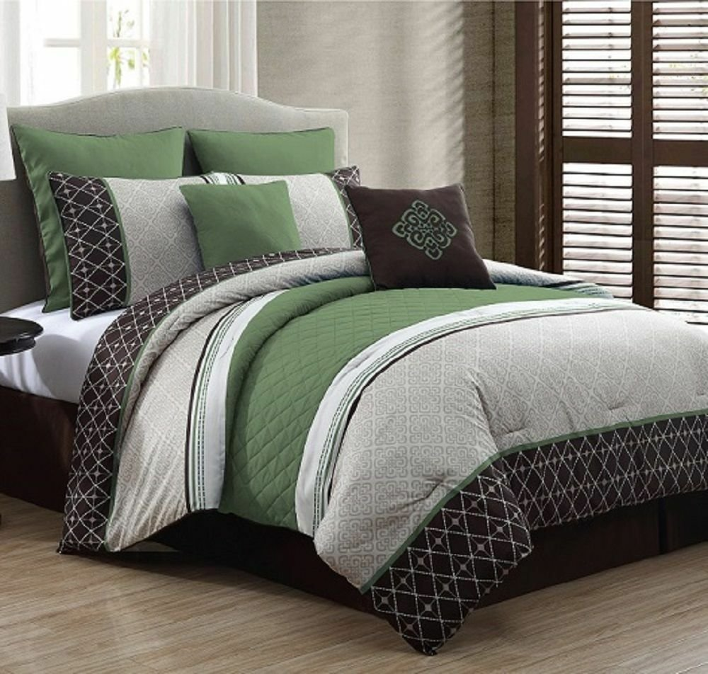Best Luxurious Queen Size Bed In A Bag 8 Piece Comforter Set With Pictures