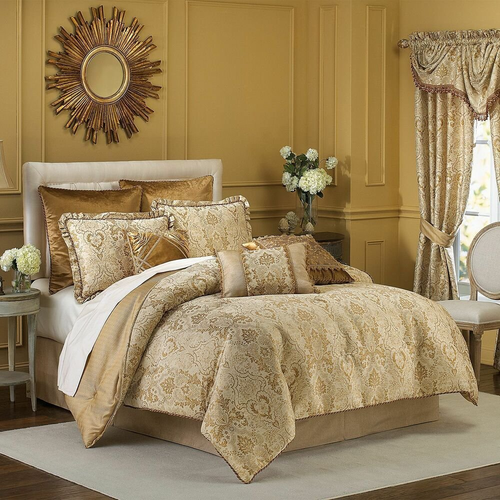 Best Croscill Excelsior 4 Piece Queen Comforter Set Gold B511 With Pictures