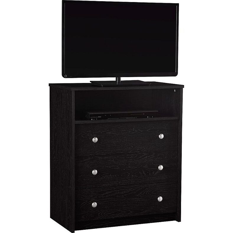 Best Bedroom Storage Dresser Chest 3 Drawer Modern Wood Furniture Tv Stand Black Ebay With Pictures