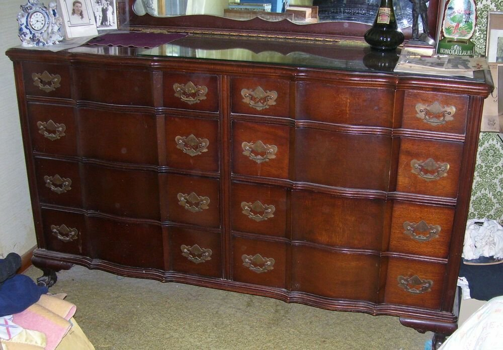 Best Kling Vintage 1940S Mahogany 800 Somerset Bedroom Set With Pictures