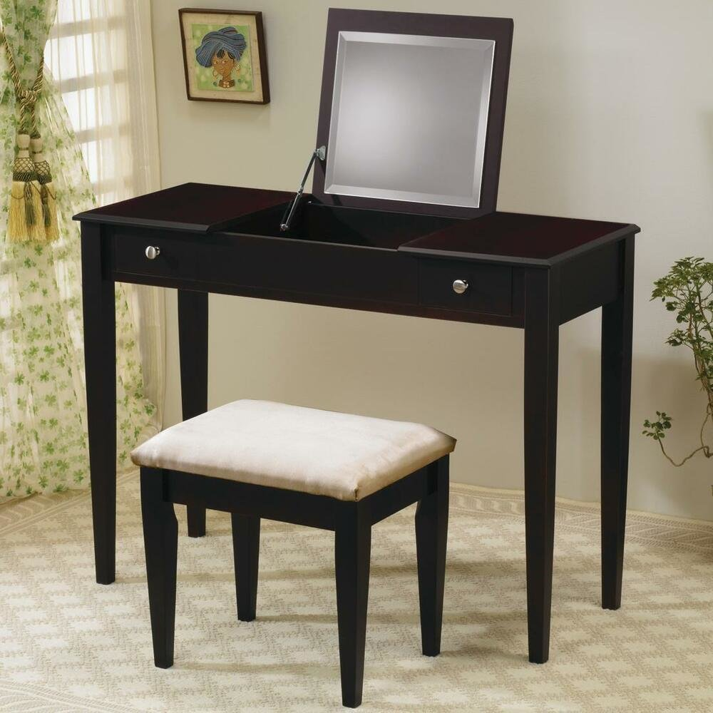 Best Cappuccino Vanity Mirror Dressing Table Stool Bedroom With Pictures