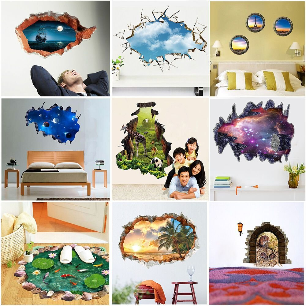 Best 3D Look Wall Vinyl Sticker Poster Childrens *D*Lt With Pictures