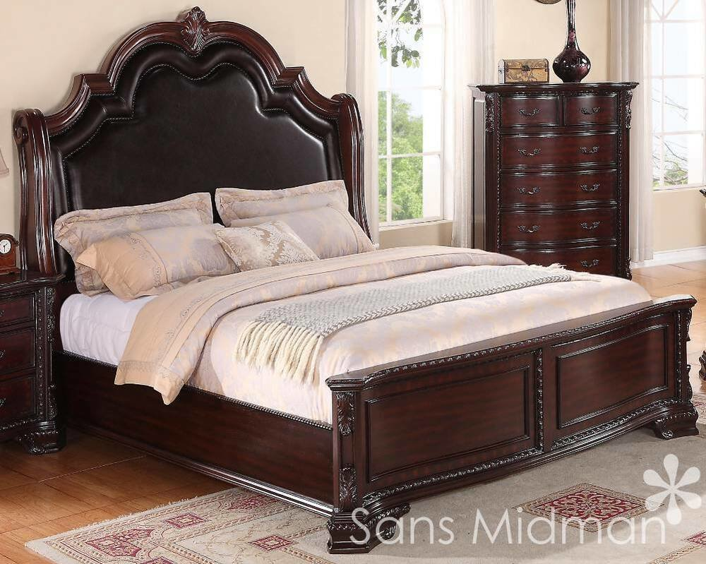 Best King Size 3 Pc Sheridan Collection Traditional Cherry Bedroom Set New Furniture Ebay With Pictures