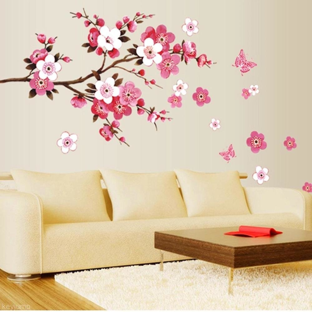 Best Diy Living Room Bedroom Wall Sticker Flower Floral Blossom With Pictures