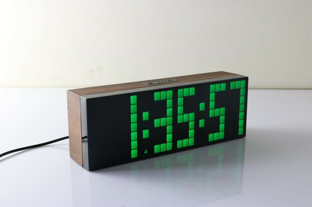 Best Big Screen Wood Led Digital Wall Clock Bedroom Kitchen With Pictures