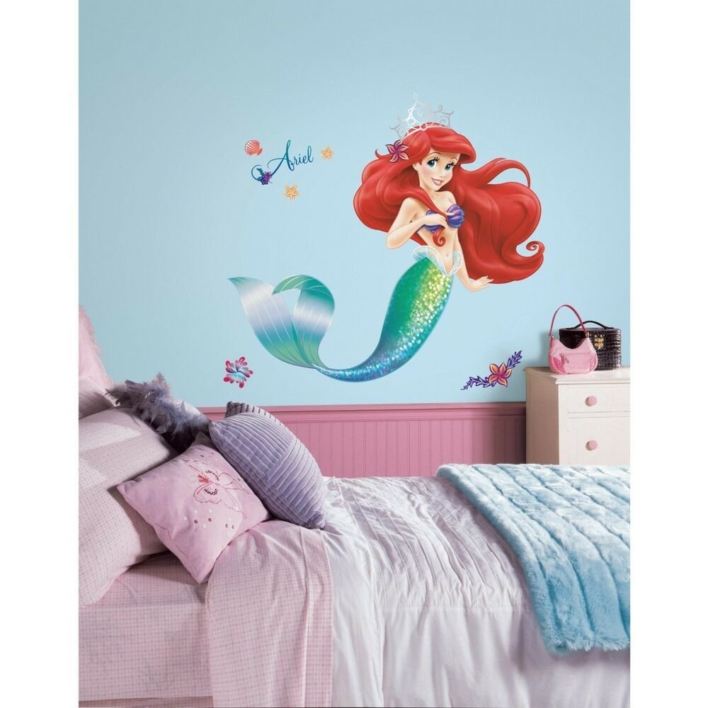 Best Disney Glittery Little Mermaid 39 Wall Decals Ariel With Pictures