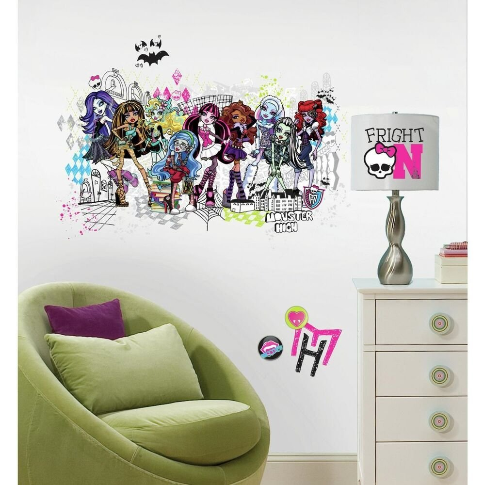 Best Monster High Group Giant Wall Decals Girls Room Stickers With Pictures