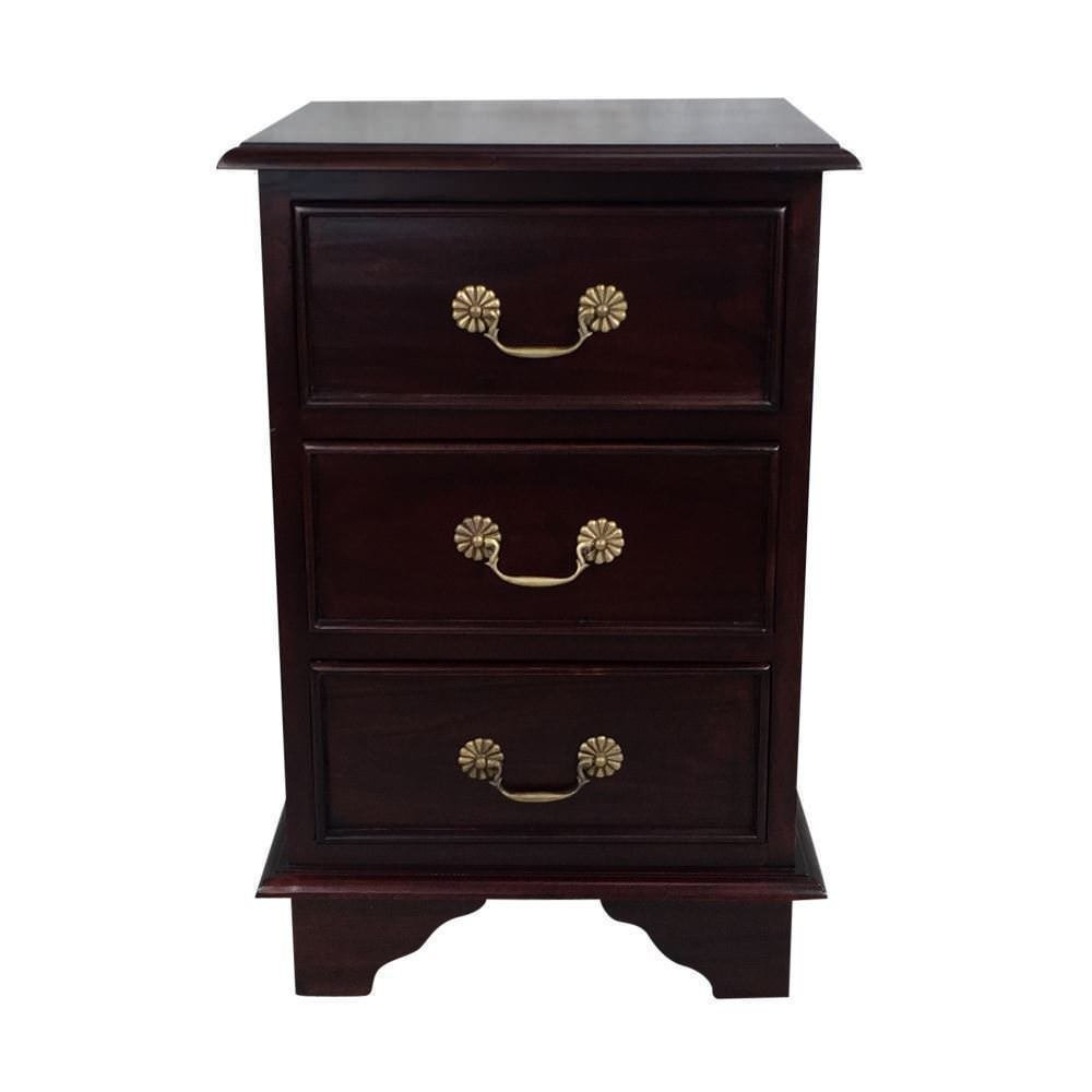 Best Solid Mahogany Wood Victorian Bedside Table Antique Style With Pictures