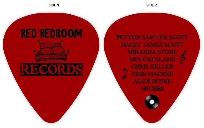 Best Red Bedroom Records Guitar Pick One Tree Hill Ebay With Pictures