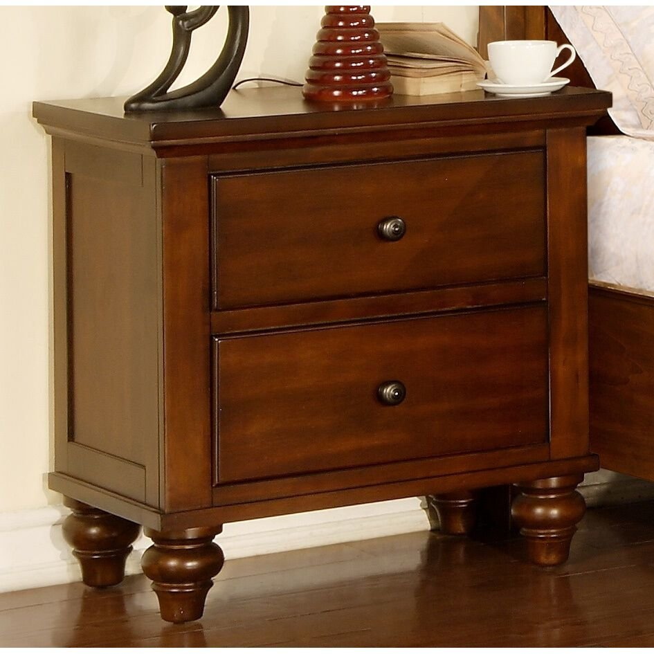 Best Night Stand Henry 2 Drawer Nightstand Furniture Bedroom With Pictures