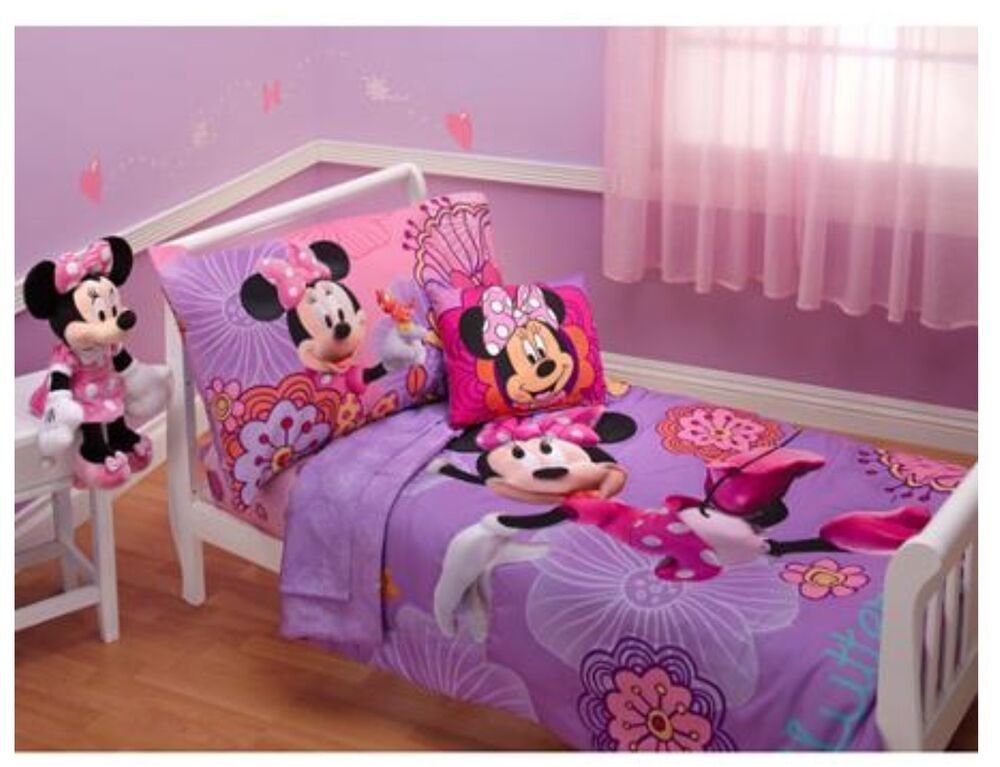 Best 4P Disney Minnie Mouse Toddler Bed In A Bag Comforter With Pictures