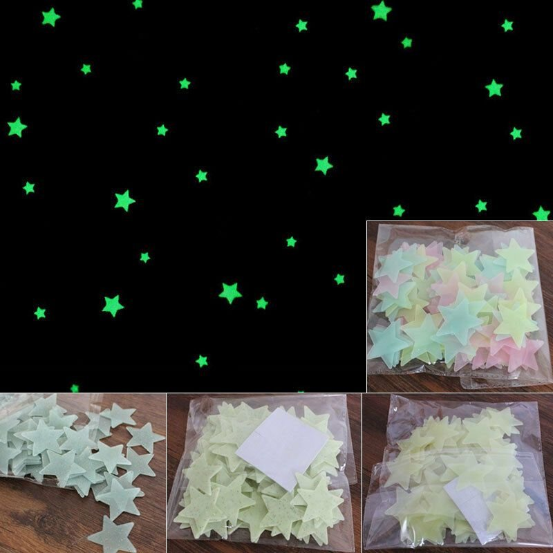 Best Beautiful Glow In The Dark Stars Wall Stickers Home With Pictures
